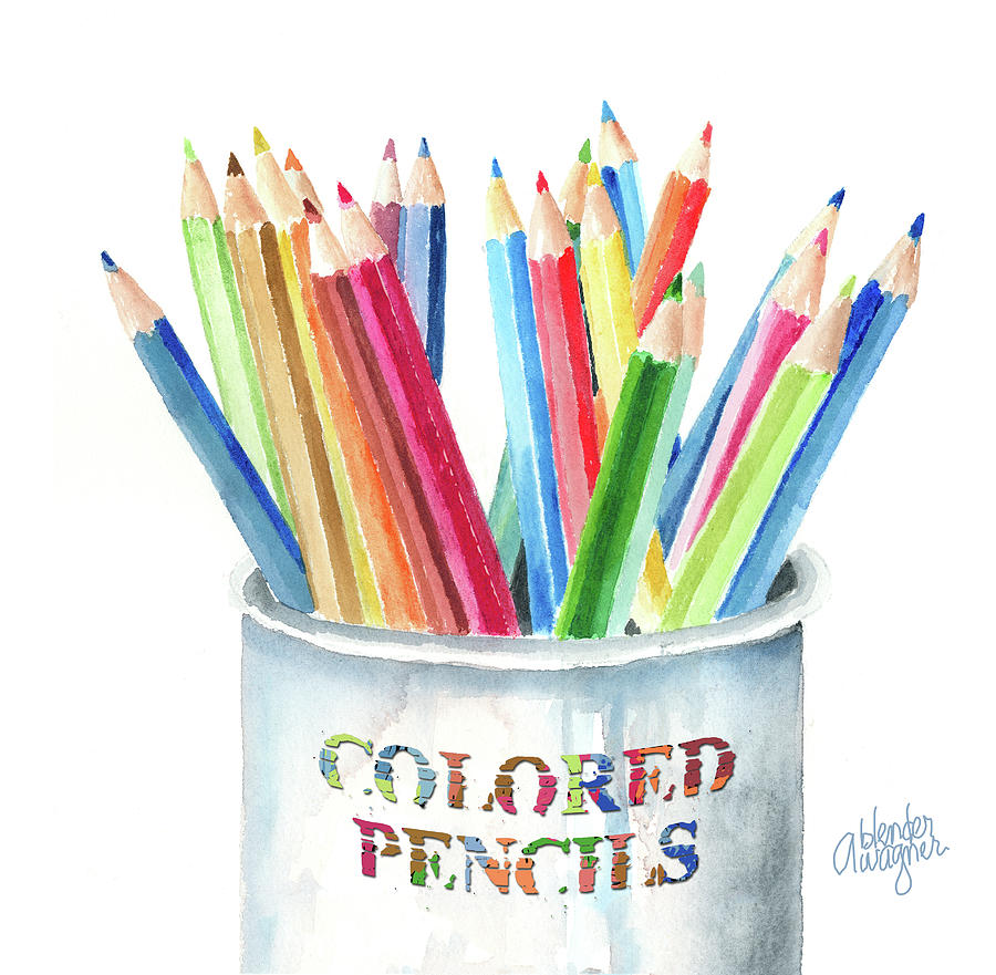 My Colored Pencils Painting  - My Colored Pencils Fine Art Print