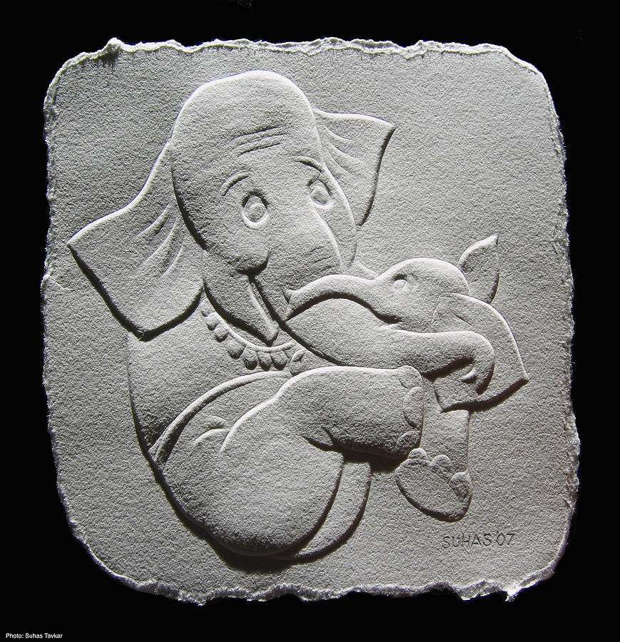 Reliefs On Paper Photograph - My Cutie by Suhas Tavkar