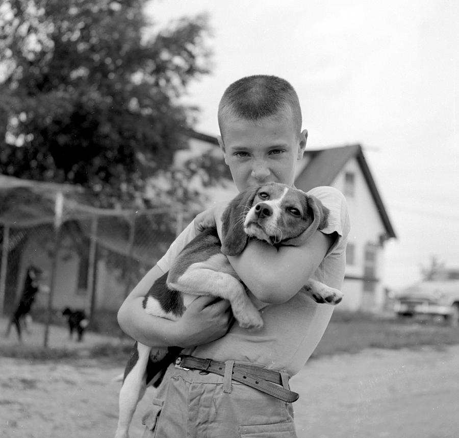 Child Photograph - My Dog by Ecell