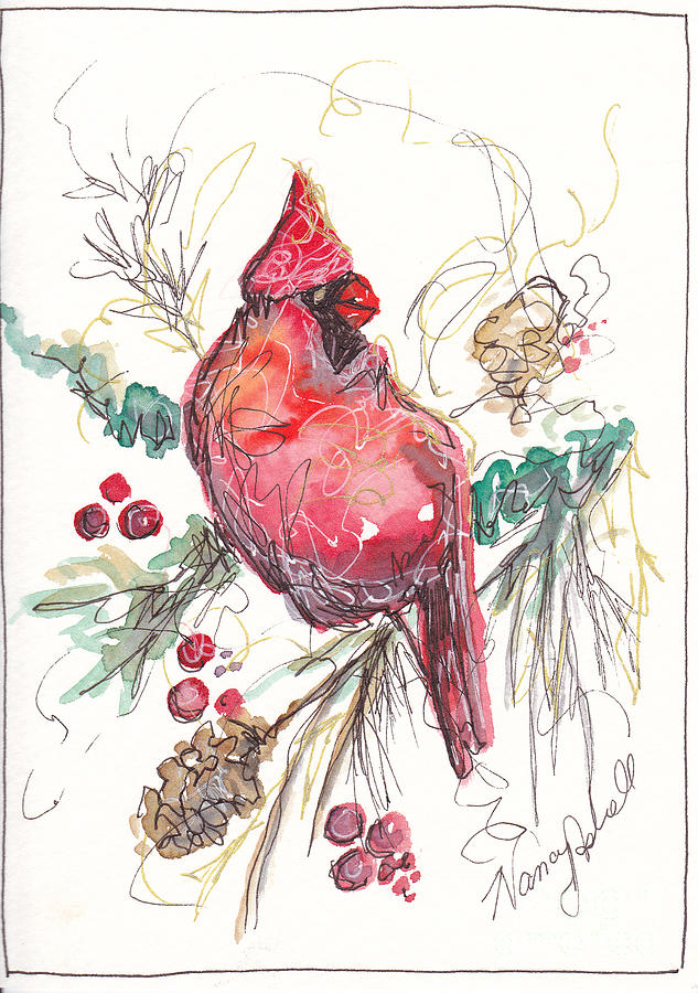 My Favorite Cardinal Painting  - My Favorite Cardinal Fine Art Print