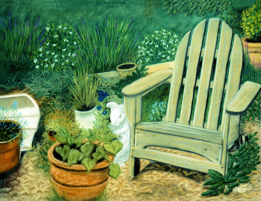 My Garden Chair Pastel  - My Garden Chair Fine Art Print