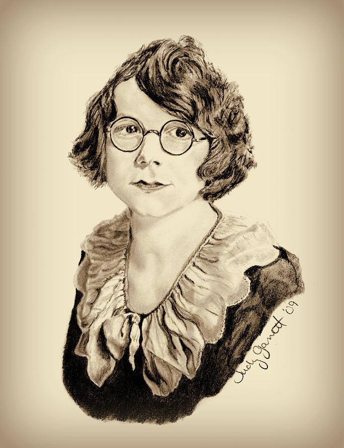 Portrait Drawing - My Grandmother Stella  by Judy Garrett