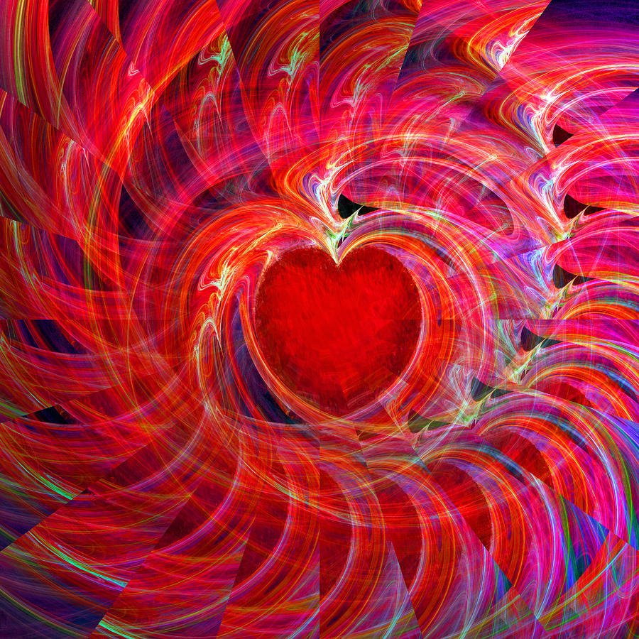 My Heart Is All A Flutter Digital Art  - My Heart Is All A Flutter Fine Art Print