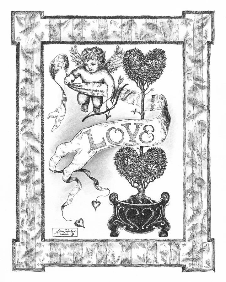 My Love Drawing  - My Love Fine Art Print