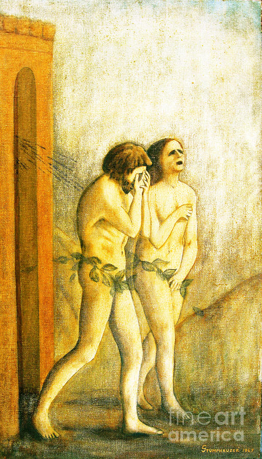 Masaccio Painting - My Masaccio Expulsion Of Adam And Eve by Jerome Stumphauzer
