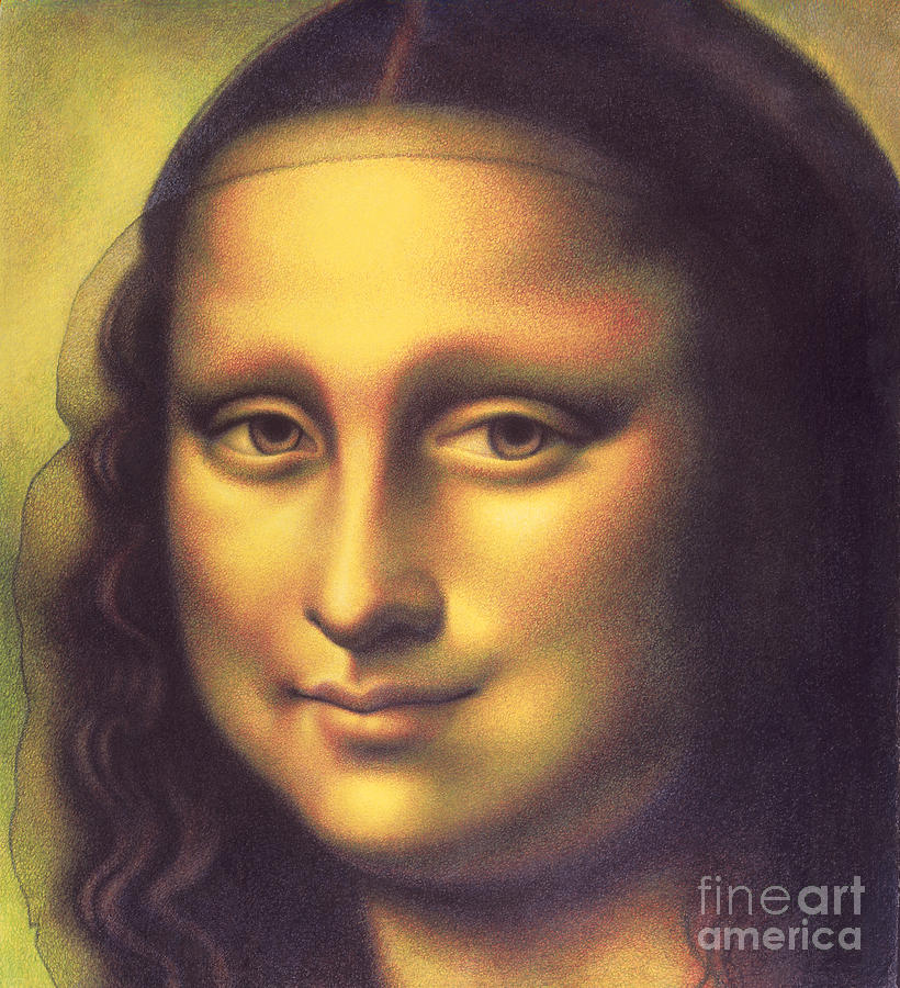 My Mona Lisa Drawing  - My Mona Lisa Fine Art Print