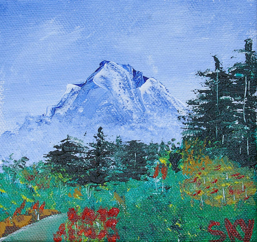 My Mountain Wonder Painting  - My Mountain Wonder Fine Art Print