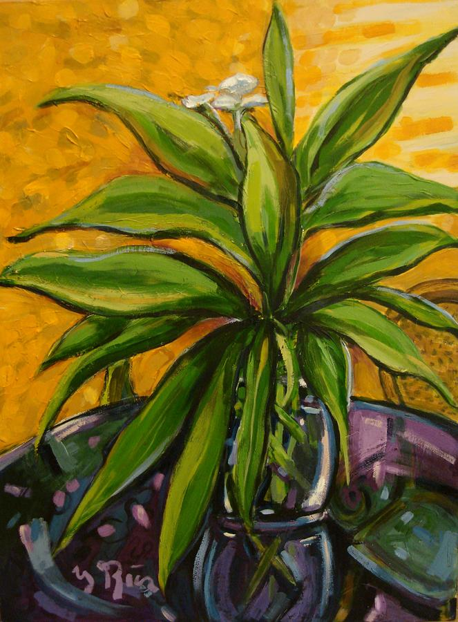 My White Ginger Painting  - My White Ginger Fine Art Print