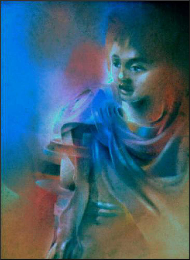 My Younger Bro Johnny 1980 Pastel  - My Younger Bro Johnny 1980 Fine Art Print