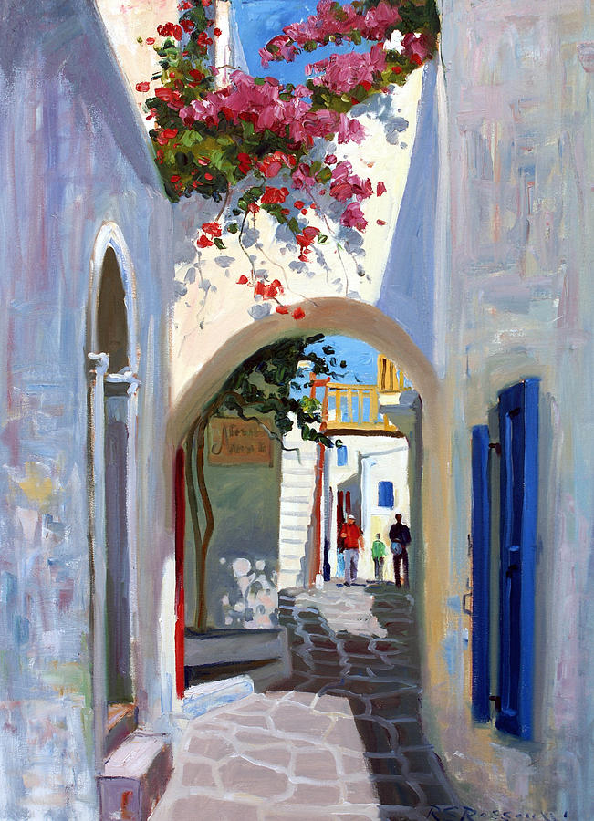 Mykonos Archway Painting