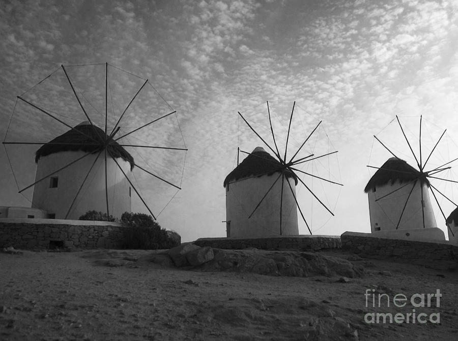 Mykonos Windmills Photograph
