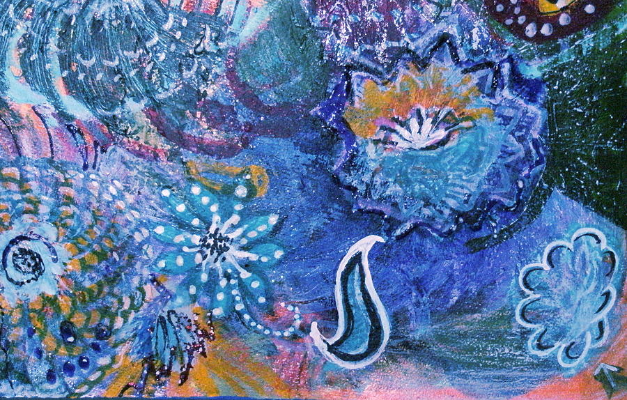 Mysteries Under The Sea Mixed Media  - Mysteries Under The Sea Fine Art Print