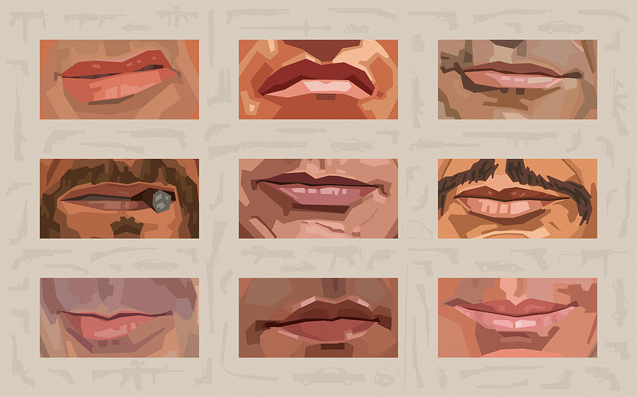 Mystery Mouths Of The Action Genre Digital Art