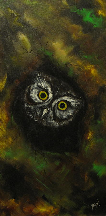 Mystery Night Watcher Painting