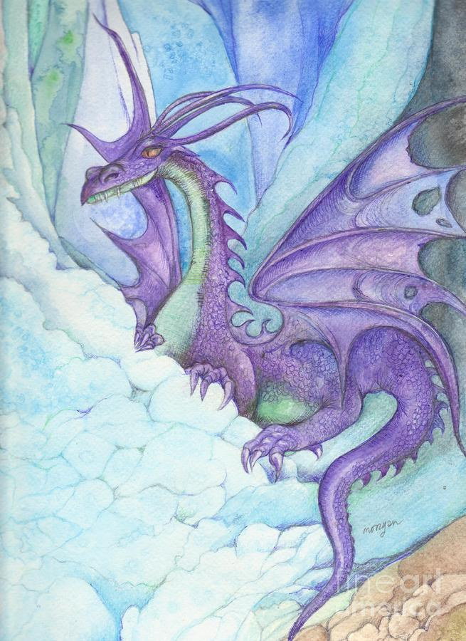 Mystic Ice Palace Dragon Painting  - Mystic Ice Palace Dragon Fine Art Print