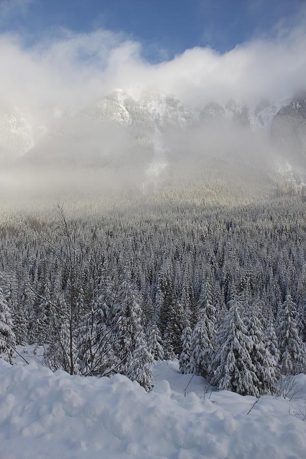 Snow Photograph - Mystic Peaks by Sylvia Hart