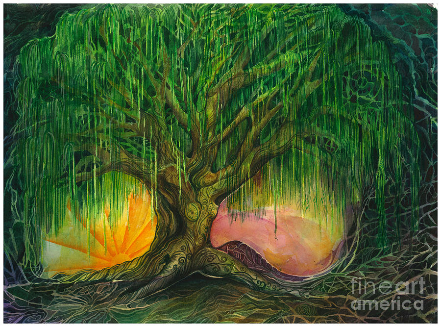 Mystical Willow Painting