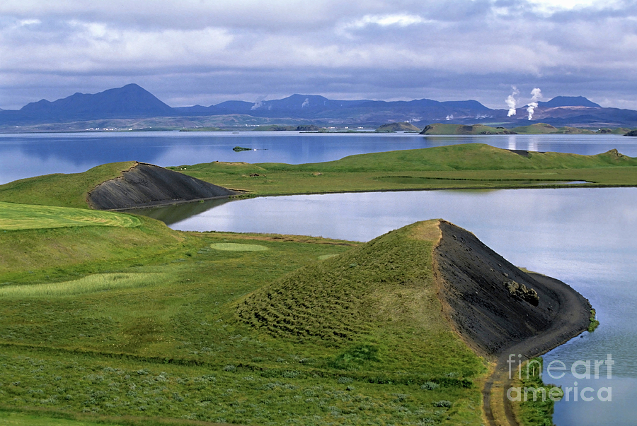 myvatn a shallow eutrophic lake situated in an area of