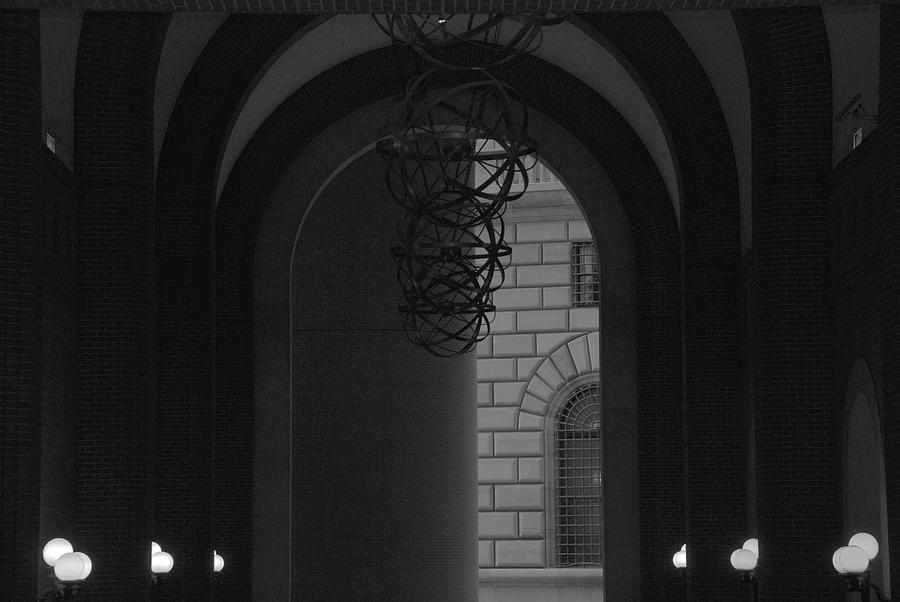 N Y C Lighted Arch Photograph