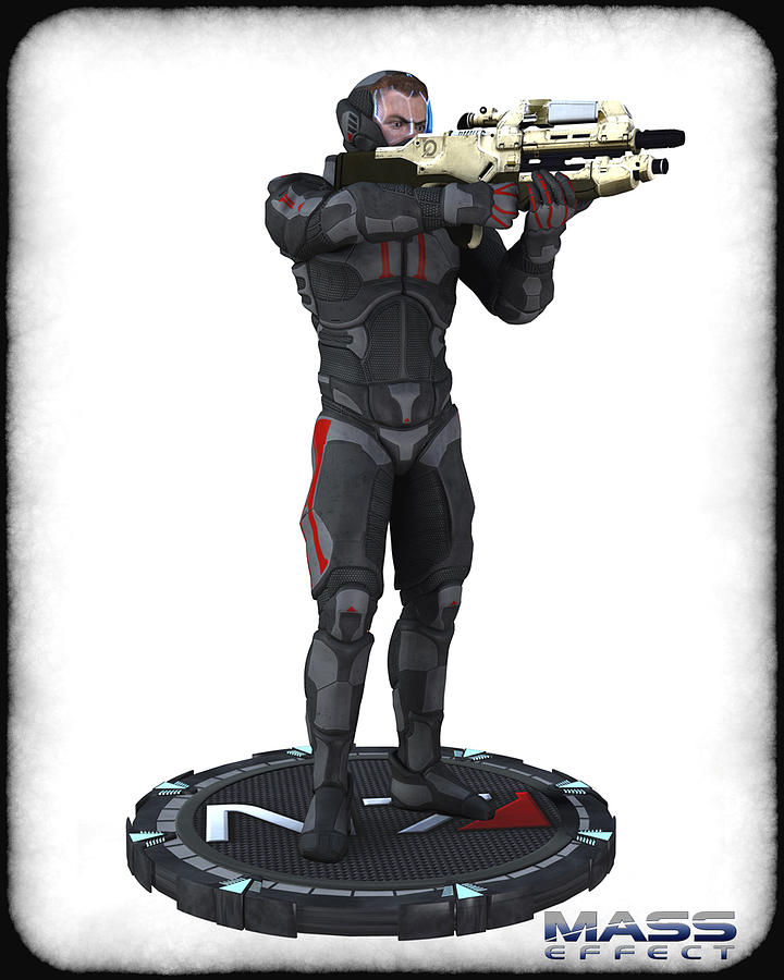 N7 Soldier V1 Digital Art  - N7 Soldier V1 Fine Art Print
