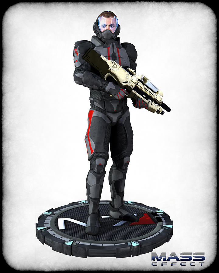 N7 Soldier V2 Digital Art  - N7 Soldier V2 Fine Art Print