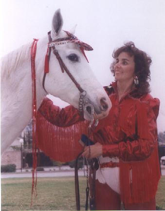 Nancy Degan And Silver The Wonder Horse Photograph
