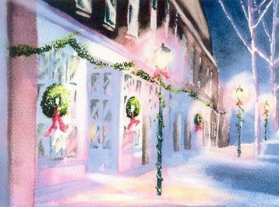 Nantucket Christmas Painting  - Nantucket Christmas Fine Art Print