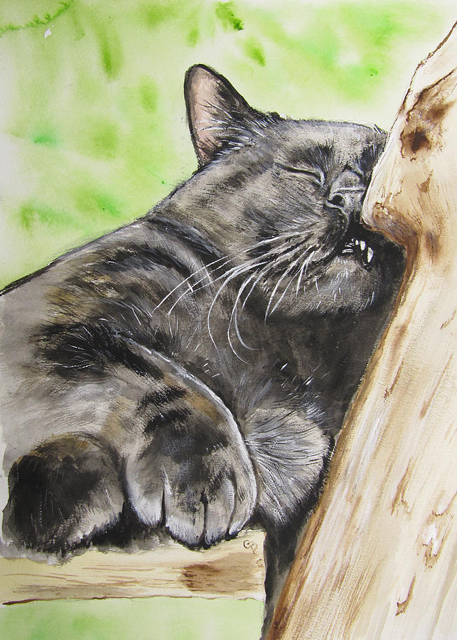 Nap Time Painting  - Nap Time Fine Art Print