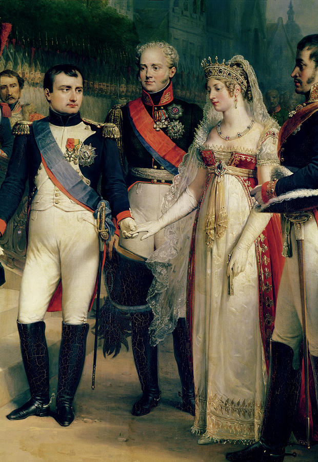 Napoleon Bonaparte Receiving Queen Louisa Of Prussia Painting