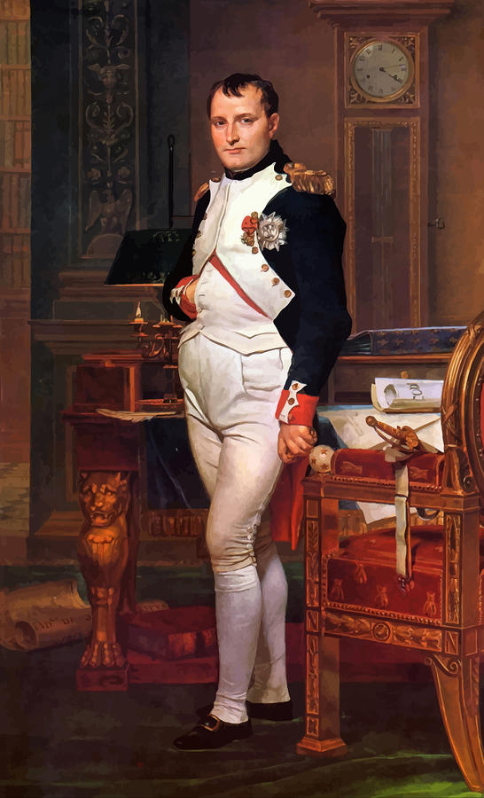 Napoleon Posing In His Study  Painting  - Napoleon Posing In His Study  Fine Art Print