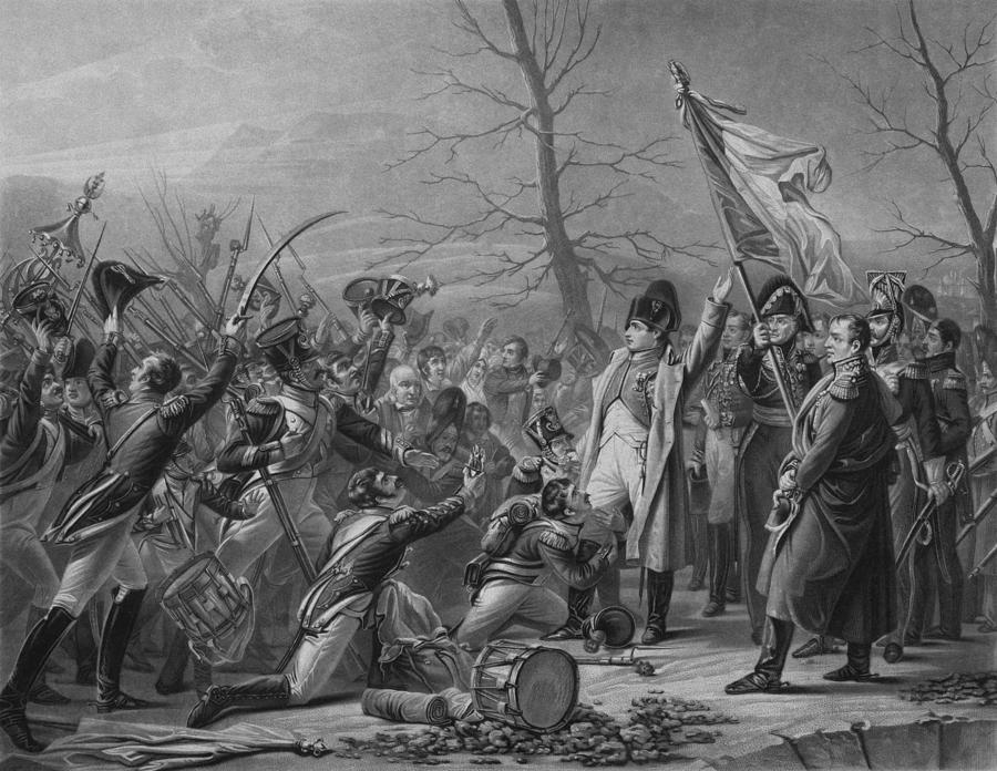 Napoleon Returns From Elba Drawing
