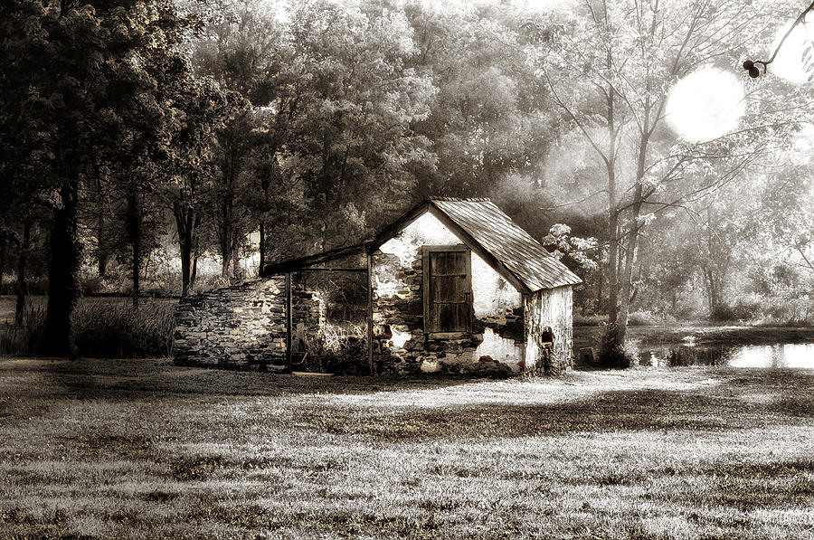 Narcissa Road Springhouse Photograph