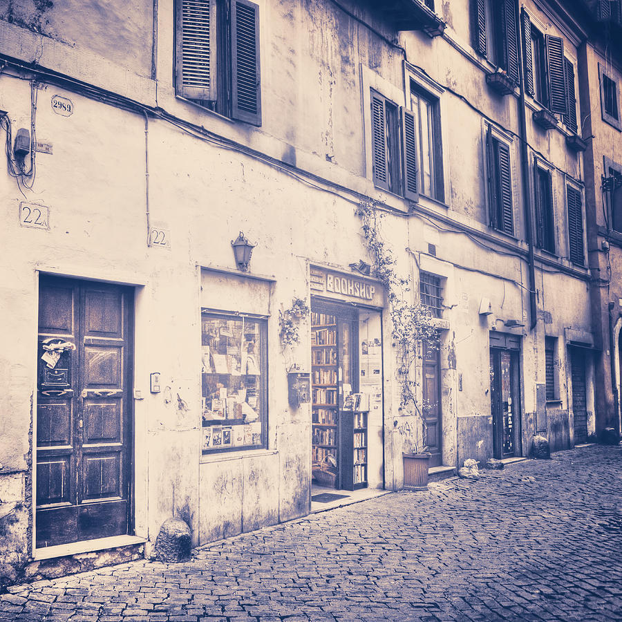 narrow street in Rome Photograph