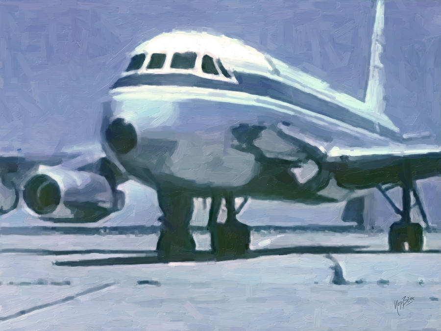 Nasa Convair Cv-990 Painting  - Nasa Convair Cv-990 Fine Art Print