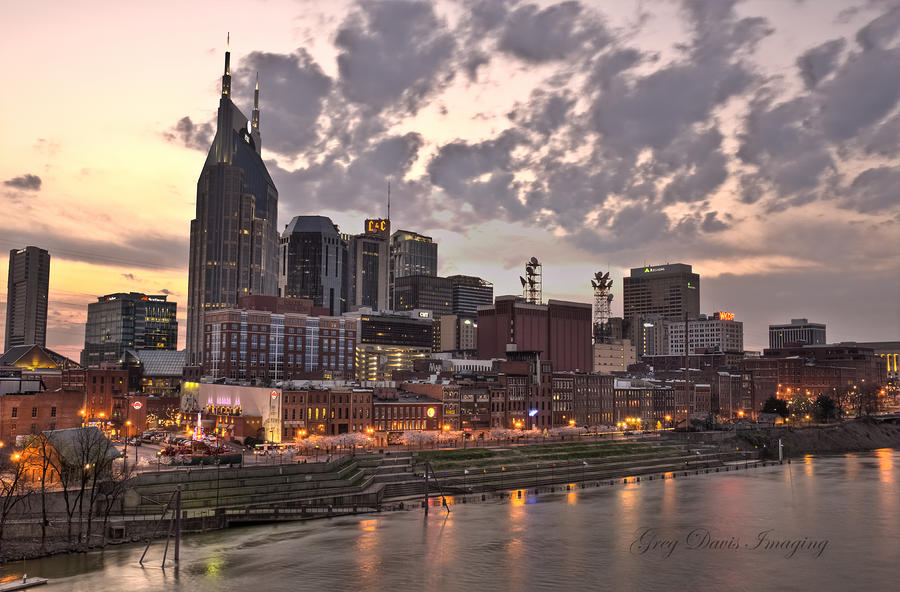 Nashville At Dusk Photograph  - Nashville At Dusk Fine Art Print