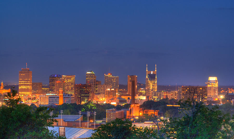 Nashville By Night Photograph  - Nashville By Night Fine Art Print
