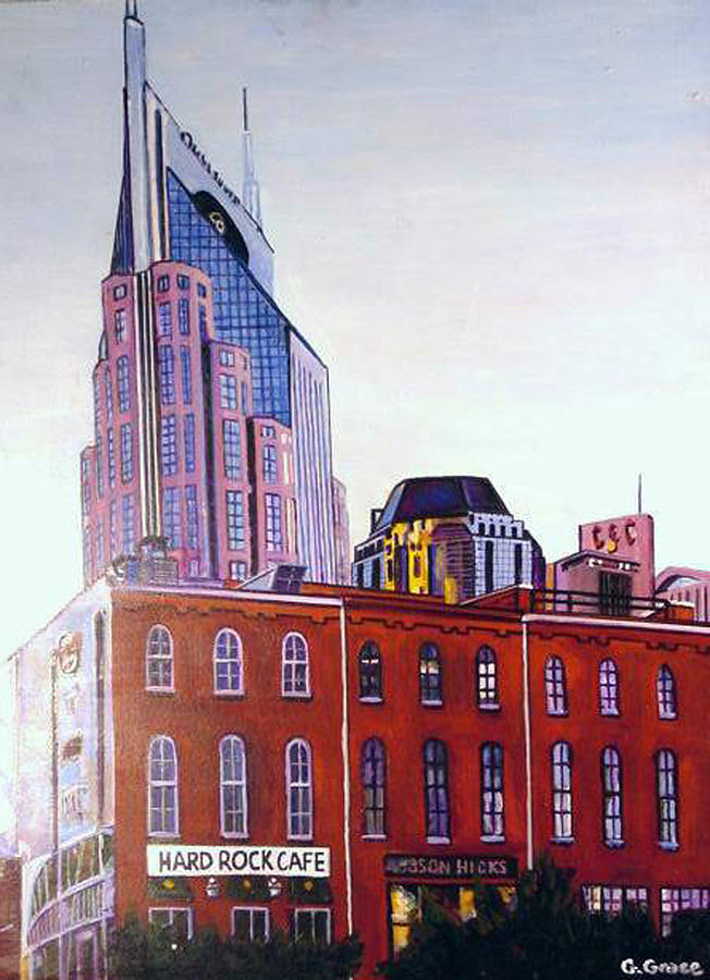 Nashville From River Painting  - Nashville From River Fine Art Print