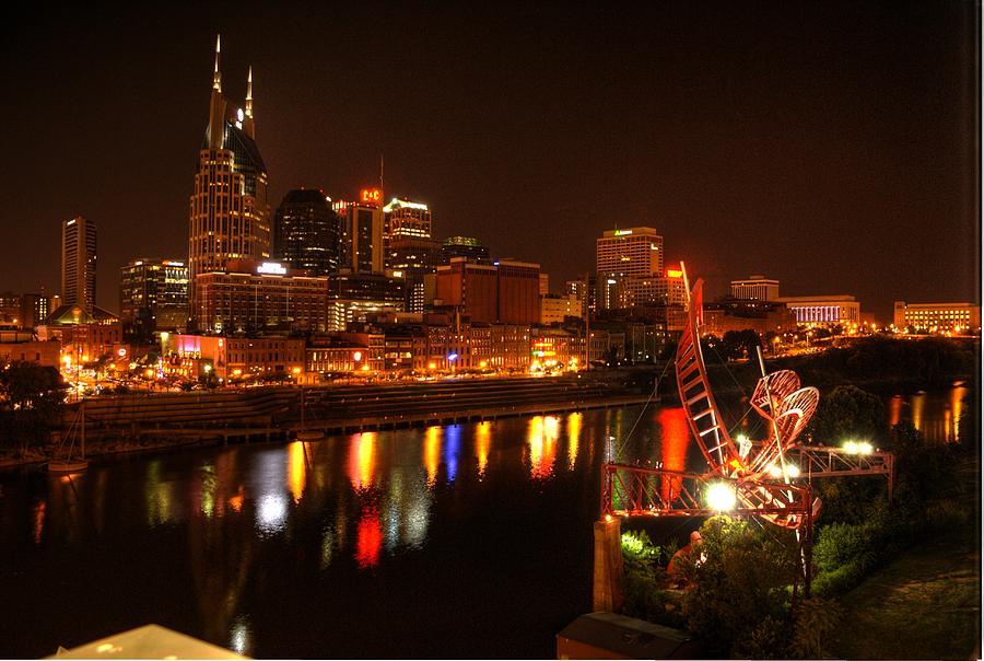 Nashville Lights Photograph By Robert Sands