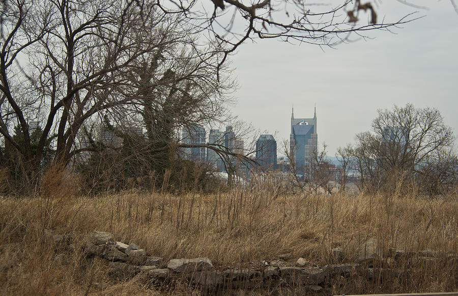 Nashville Photograph - Nashville Skyline From The Fort by Douglas Barnett