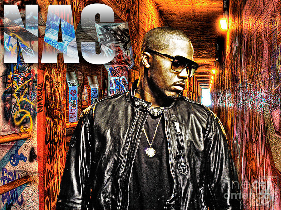 Nasir Jones Digital Art  - Nasir Jones Fine Art Print