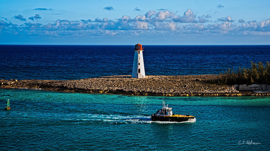 Nassau Harbor Lighthouse Photograph  - Nassau Harbor Lighthouse Fine Art Print