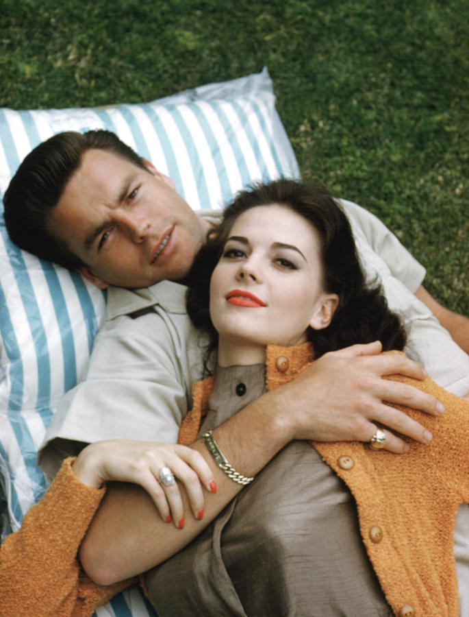 Natalie Wood And Robert Wagner, Late Photograph  - Natalie Wood And Robert Wagner, Late Fine Art Print