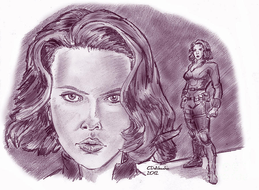 Natasha Romanoff Black Widow Drawing