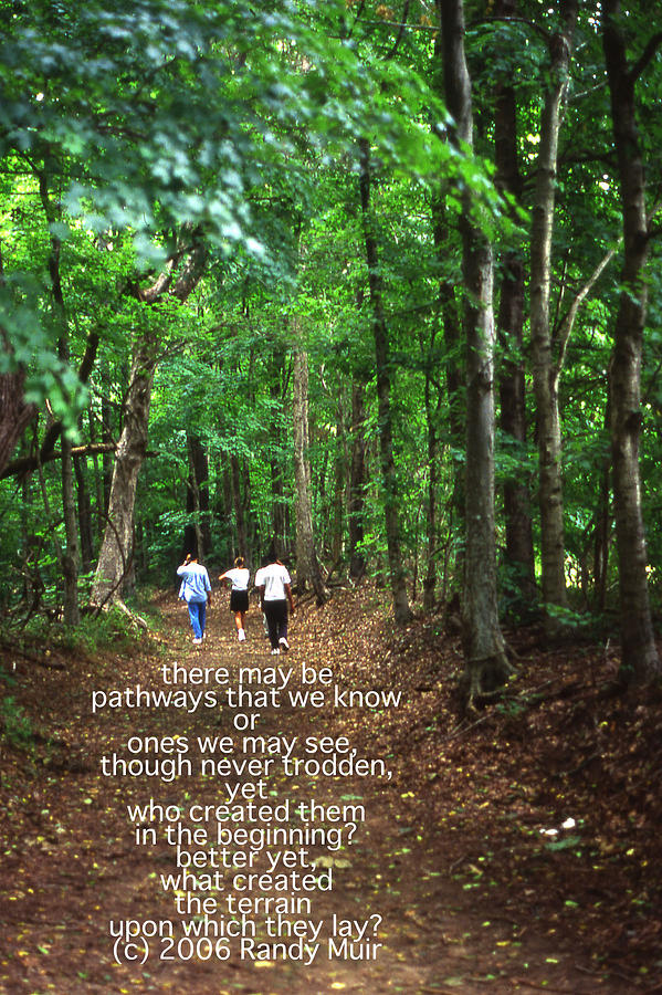 Natchez Trace Walkers With Poem Photograph