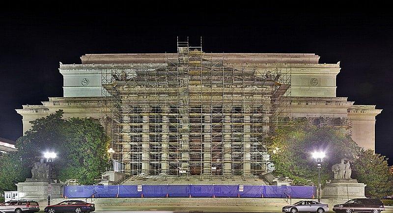 National Archives Building Renovation Photograph