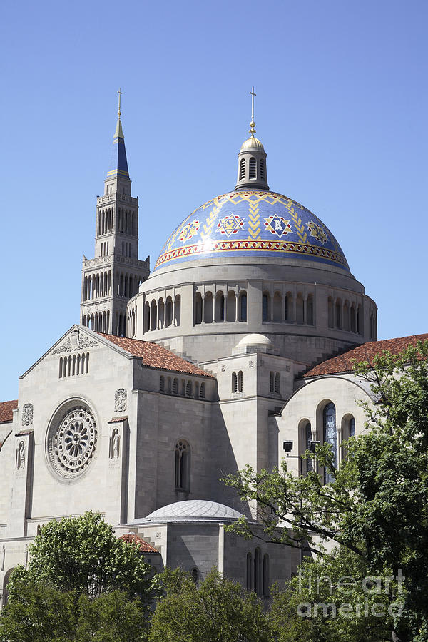 National Shrine Of The Immaculate Conception Photograph  - National Shrine Of The Immaculate Conception Fine Art Print