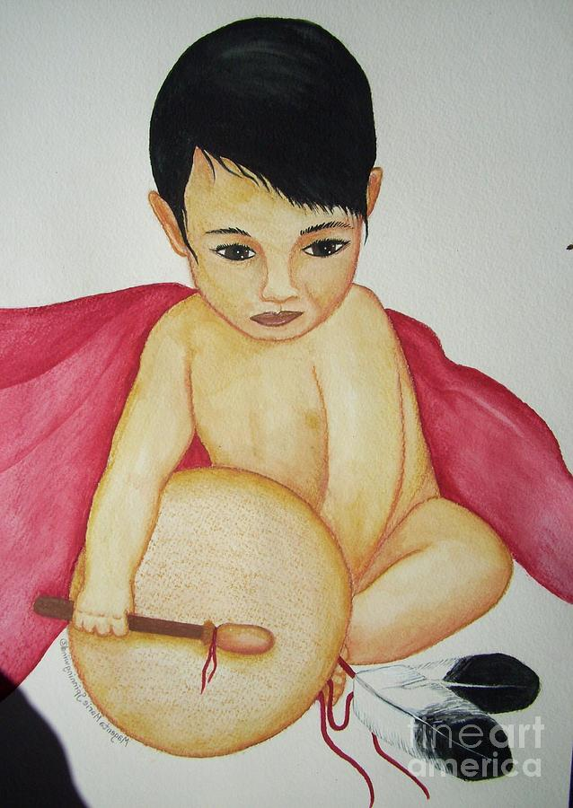 Native American Baby Painting