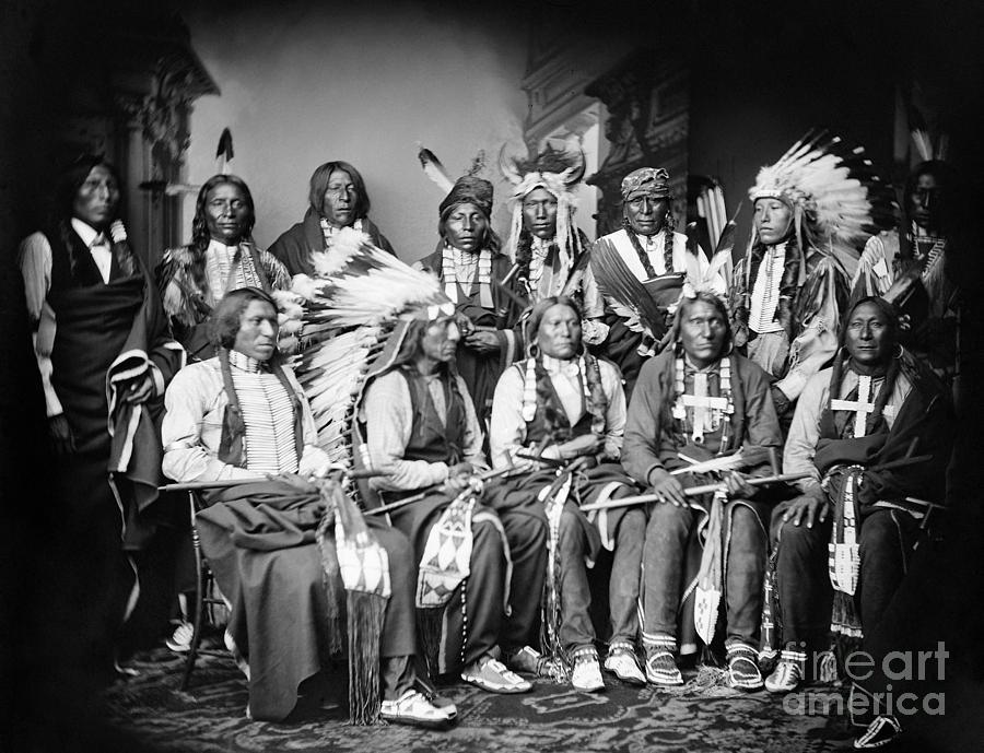 Native American Delegation, 1877 Photograph