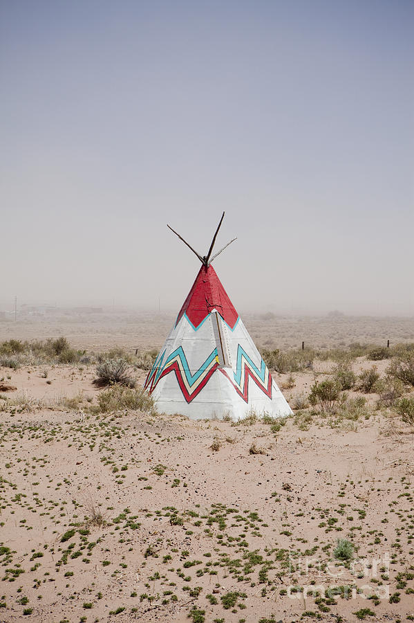Americana Photograph - Native American Tipi Replica by Paul Edmondson
