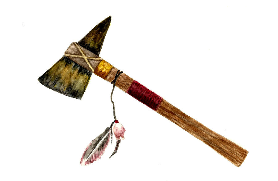 Native American Tomahawk Painting
